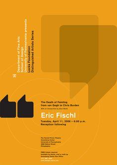 paone design associates : poster: 2006 January – University of Pennsylvania / School of Design / Department of Fine Arts: Locks Foundation Lecture Series 4: Eric Fischl