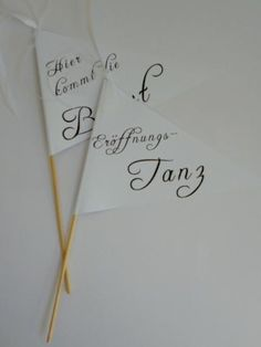 Fahne für Blumenkinder, Wedding Wands von Deko & Papierwelt auf DaWanda.com