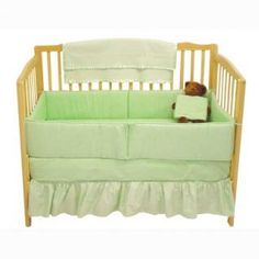 Solid Baby Crib Bedding Set - Baby Bedding - 12656celery