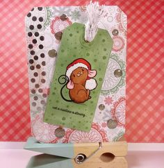 What stirs your creativity for #christmas? For me it's @someoddgirl Chris Mouse! #scrapbooking #cardmaking