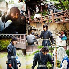 Lee Min Ho on the set of Faith/The Great Doctor