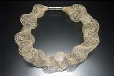 Barbara SilverStein collar, Ruffle, gold-filled and sterling