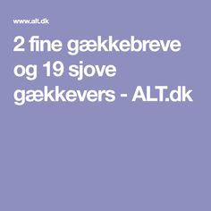 2 fine gækkebreve og 19 sjove gækkevers - ALT.dk