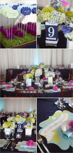 nautical wedding: navy, lime, aqua + pops of fuscia