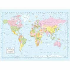 Buy 1wall map of the world wallpaper mural at argos your buy 1wall map of the world wallpaper mural at argos your gumiabroncs Images