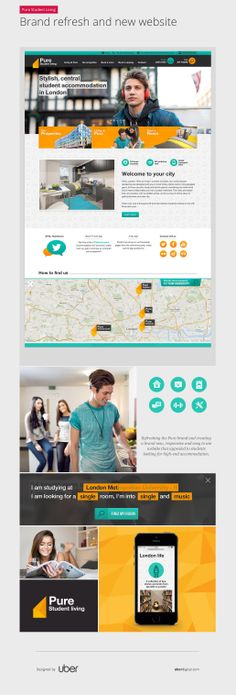 Pure Student Living - Brand refresh and new website