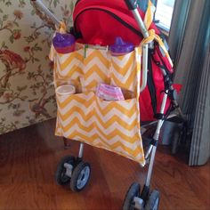 Staying Sane While Staying Home!: Stroller Caddy Organizer DIY