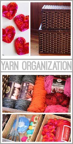 DIY yarn storage organization idea