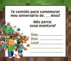 Minecraft Birthday Party, Mini Craft, Diy, Crafts, Google, Cars Invitation, Minecraft Party Favors, Minecraft Invitations, Minecraft Skins