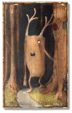 Welke dingen leven nog in het bos? Illustrator Mateo Dineen - El bosque para los árboles