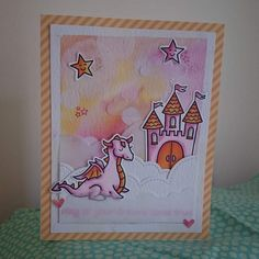Lawn Fawn - Critters Ever After, Puffy Cloud Borders, Let's Polka Mon Amie 6x6 paper _ dreamy card by ktfsj via Flickr