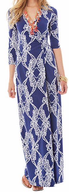 Stylish printed maxi dress