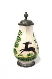 Miniatur Birnkrug Fayence um 1800