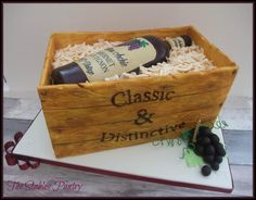 Vintage Wine bottle  - Cake by The Stables Pantry