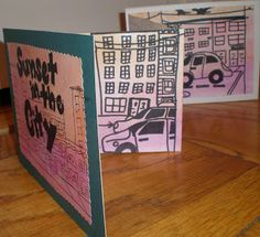 Basic Accordion Book -- Grade 2, This lesson uses a basic 4 page accordion book with a mat board cover and back. The paper is cut to 4 1/2 x 24.