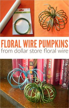 Dollar Store Floral Wire Pumpkins – Mad in Crafts