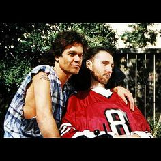 """Two Amazing Rock Stars,...Eddie Van Halen and Jason Becker!"" #evh #eddievanhalen #jasonbecker #Amazing #RockStar #ALS #Rock #Music #vantastikhistory #Vantastik #VanHalen"