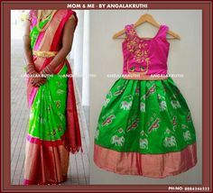 #Mom and Me designs in Bangalore by Angalakruthi-Ladies  boutiques #Custom designer boutique in Bangalore #Ladies tailors in bangalore india watsapp:8884347333
