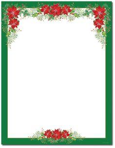 CHRISTMAS Christmas Letterhead Stationery Border Frames Tree
