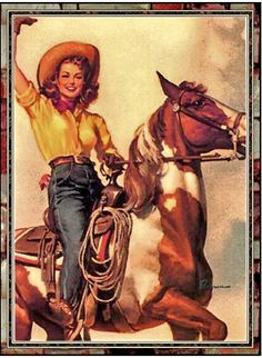 Giddy-up. Darla was a barrell racer in rodeos.