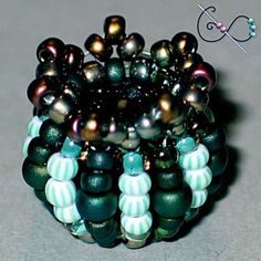Spinning Top Beaded Bead - Free Pattern to download