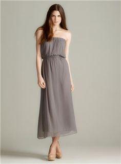 Emily B Option 1 Strapless Lined-Chiffon Maxi Dress