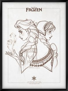 """""""You don't have to live in fear, cause for the first time in forever, I will be right here"""".  Queen Elsa and Princess Anna fro Disney's Frozen.By David Kawena"""