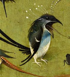 Detail from The Garden Of Earthly Delights, Hieronymus Bosch, 1490 - 1510 Hieronymus Bosch Paintings, Art Roman, Pix Art, Jan Van Eyck, Garden Of Earthly Delights, Dutch Painters, Weird Creatures, Magritte, Medieval Art