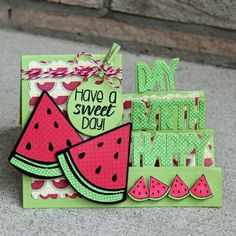 Watermelon2stamp and die set from the @thestampsoflife by Jodi Wilton