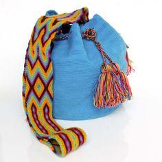 HandMade: Crochet Tapestry mochilas tipo wayuu
