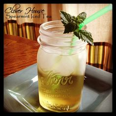 Spearmint Iced Tea: My grandma makes this stuff by the gallons because people come from all over the county to drop in, just hoping that she'll have some brewed up. Now that I think about it... I might drive down there myself to get some. There is nothing so good as ice cold tea on a hot night. Spearmint Recipes, Spearmint Tea, Fancy Drinks, Cold Drinks, Yummy Drinks, Beverages, Alcoholic Drinks, Cocktails, Smoothie Recipes