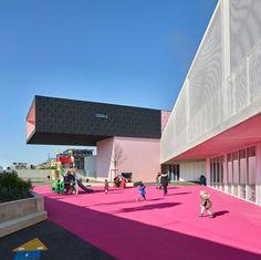 Gallery of 'André Malraux' Schools in Montpellier / Dominique Coulon & associés - 6 Kindergarten Architecture, Kindergarten Design, Education Architecture, School Architecture, Architecture Design, Montpellier, Primary School, Elementary Schools, Dominique
