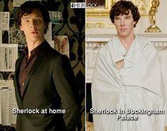 Ahaha, Buckingham Palace is his home - Sherlock - BBC One Sherlock Fandom, Holmes Sherlock Bbc, Funny Sherlock, Jim Moriarty, Sherlock Quotes, Sherlock Comic, Sherlock Poster, Sherlock Season, Benedict Sherlock