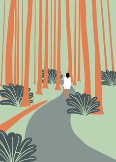 #korea #jeju #forest #drawcat #calendar #illust#드로우캣 #제주도 #숲 #일러스트