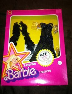 "Superstar Barbie ""Dramatic Black Silver Shimmer"" Fashions | eBay"
