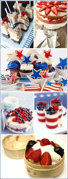 Wonderful ideas for the Fourth of July like the Rice Crispie Treats from Twig & Thistle. YUM!