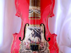Violin musical instrument student red artisan by ModernTextureArt
