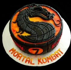 Mortal Kombat Cake I made at home for a little boy named Yonatan who was turning 7 years old :) He absolutely loved it! Mortal Kombat Cake I made at home Candy Birthday Cakes, Birthday Cookies, Birthday Party Themes, Birthday Ideas, Birthday Cake For Husband, Boy Birthday, Birthday Stuff, Mortal Kombat, Nerf Cake