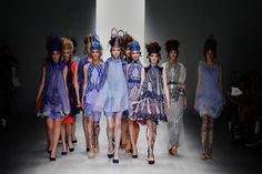 Bora Aksu spring summer 2013 London Fashion Week catwalk show.
