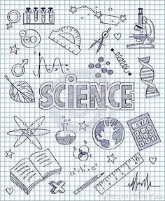 Drawings for science Lettering Brush, Hand Lettering, Binder Covers, Notebook Covers, Science Doodles, Diy Back To School, School Notebooks, Sketch Notes, School Notes