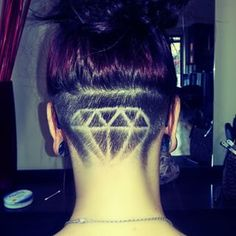 Best Picture For nape undercut kids For Your Taste You are looking for something, Undercut Braid, Shaved Undercut, Undercut Pompadour, Undercut Hairstyles, Updo Hairstyle, Back Of Head Shaved, Nape Undercut Designs, Badass Haircut, Shaved Hair Designs