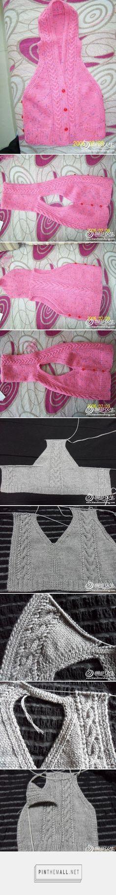 Knit baby vest with hoodie ~~ http://bebuc-hobi.blogspot.com/2011/09/kapsonlu-cocuk-yelegi.html ~~ Hobi Dünyası: Kapşonlu Çocuk Yeleği
