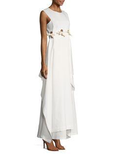 Terme Cotton Asymmetrical Flared Dress from Max Mara on Gilt