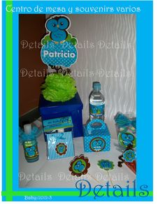 DETAILS SOUVENIRS FACEBOOK Pack para Bayby Shower temático Bhuos