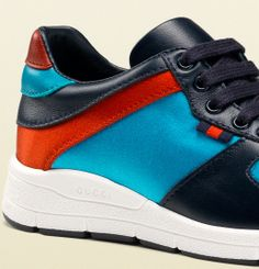 Gucci Kids' SS 2014 Collection: Lace-Up Sneakers