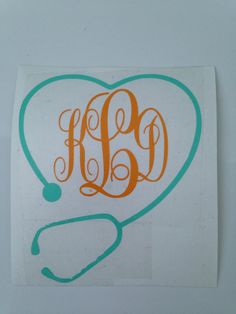 Nurse/medical Heart Monogram on Etsy, $5.00