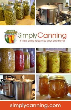Site index with all canning recipes from SimplyCanning.com