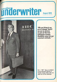 Bill Spry - an architect of IBC Canadian History, Cover