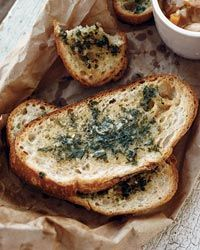 This #garlicky #bread is perfect for dipping, or on its own.