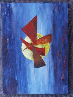 """Tableau peinture abstraite """"Monde parallèle"""" : Peintures par cat-crea"""